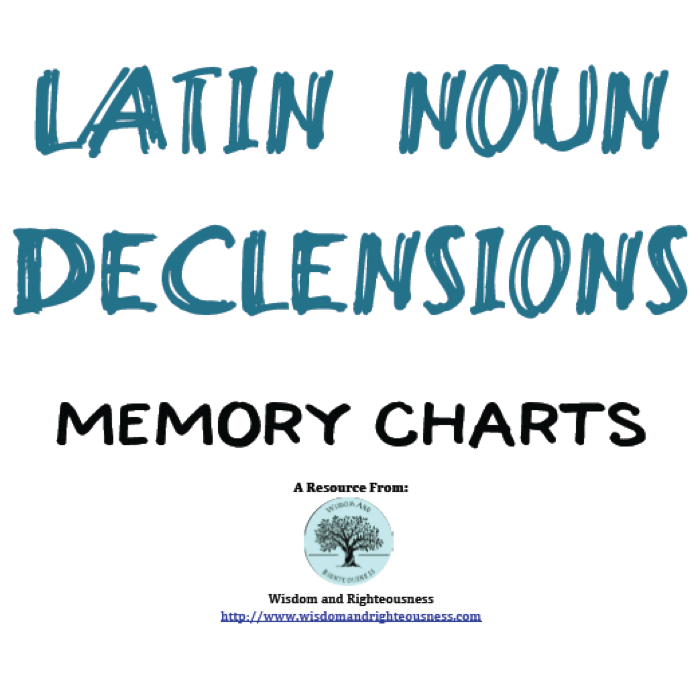 Latin Wisdom About Advertises: Latin Declension Memory Chart